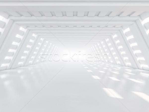 Abstract moderne architectuur lege witte Open ruimte Stockfoto © user_11870380