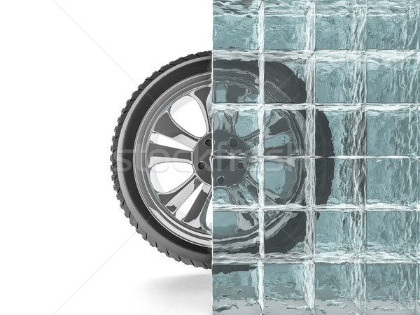 Winter tires with snowflake protector. 3D Stock photo © user_11870380