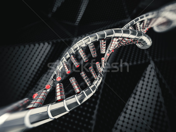Abstrakten Wissenschaft dna 3D Rendering Computer Stock foto © user_11870380