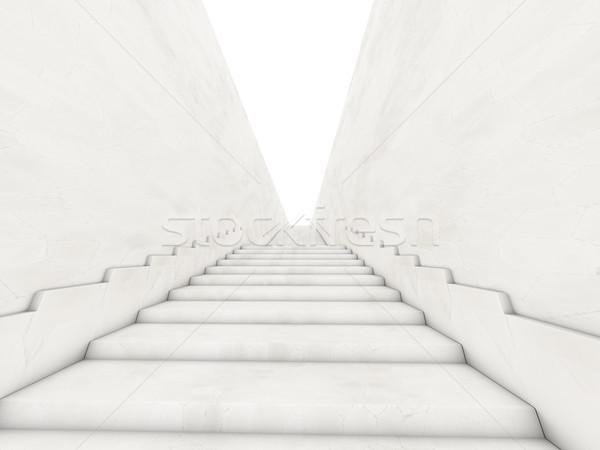 Сток-фото: архитектурный · лестницы · 3D · здании · строительство