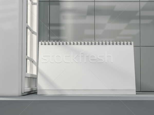 Bureau kalender moderne interieur 3D Stockfoto © user_11870380