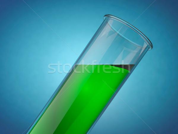 Foto stock: Química · líquido · cor · 3D · verde