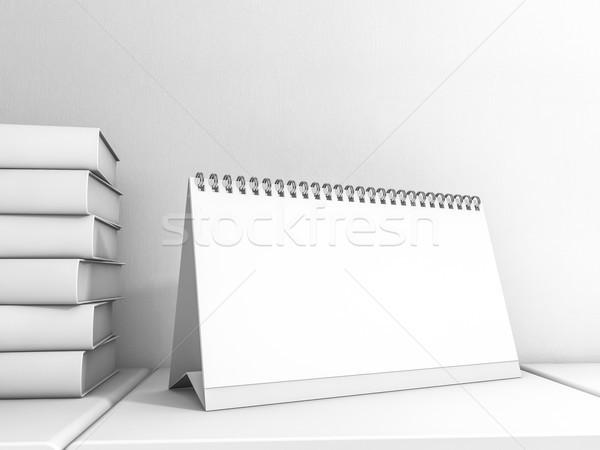 Kép asztal naptár vázlat 3D renderelt kép Stock fotó © user_11870380