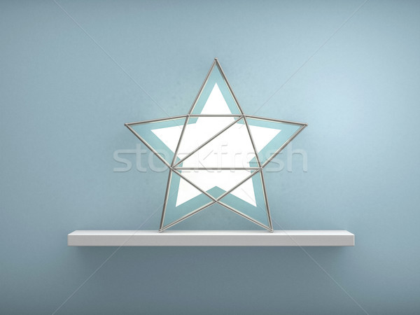 Bookshelf shaped christmas tree. 3D rendering  Stock photo © user_11870380