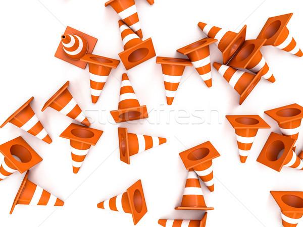 Stockfoto: Oranje · weg · top · 3D