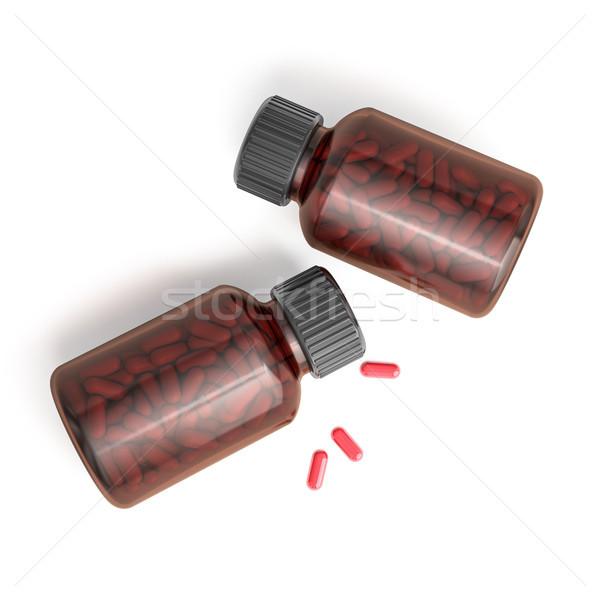Foto stock: Drogas · prescripción · botella · 3D · médicos