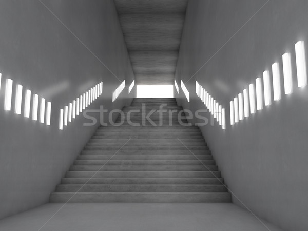 Bouwkundig trap 3D gebouw bouw Stockfoto © user_11870380