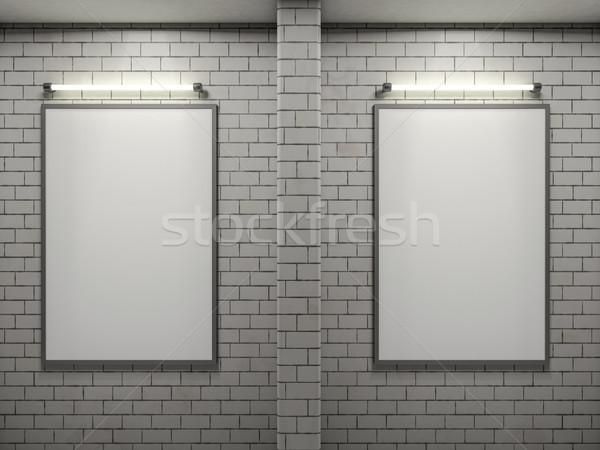 Mockup poster frame Image, simple scene. 3D Stock photo © user_11870380