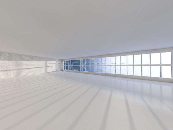 Soleado grande abierto Windows 3D Foto stock © user_11870380