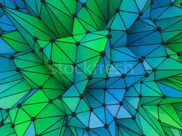 Abstract colorfull Geometrical Background .Futuristic technology Stock photo © user_11870380