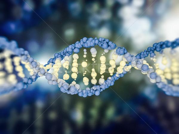 Digital illustration of a DNA model. 3D Stock photo © user_11870380