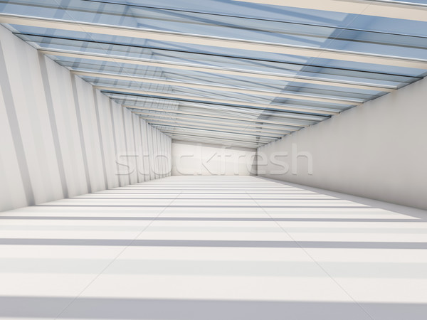Abstract moderne architectuur lege witte Open ruimte Stockfoto © user_11870380