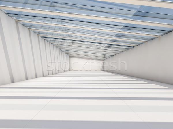 аннотация Современная архитектура пусто белый открытых пространстве Сток-фото © user_11870380