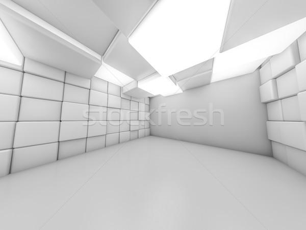 単純な の空室 インテリア ランプ 3D レンダリング ストックフォト © user_11870380