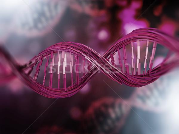 Digitale illustratie dna model 3D wetenschap Stockfoto © user_11870380