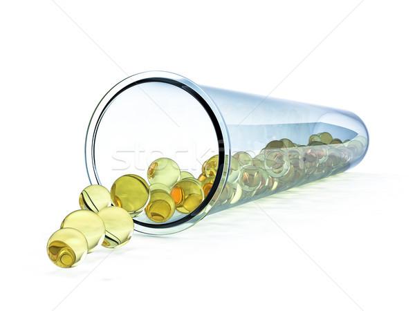 Reageerbuis geïsoleerd witte 3D glas Stockfoto © user_11870380