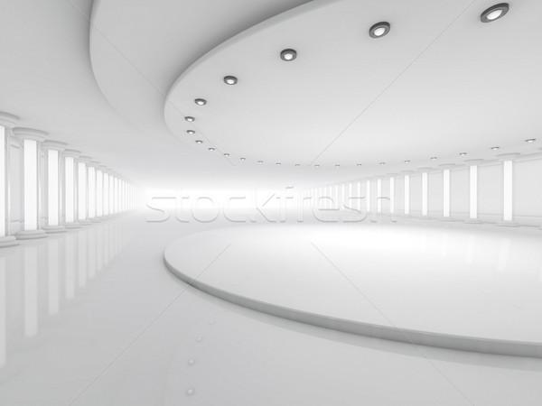 Simples quarto vazio interior lâmpadas 3D Foto stock © user_11870380