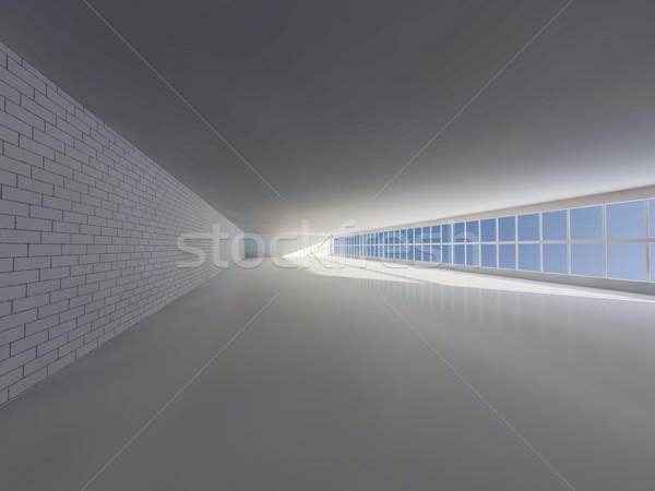 Foto stock: Ensolarado · grande · abrir · windows · 3D