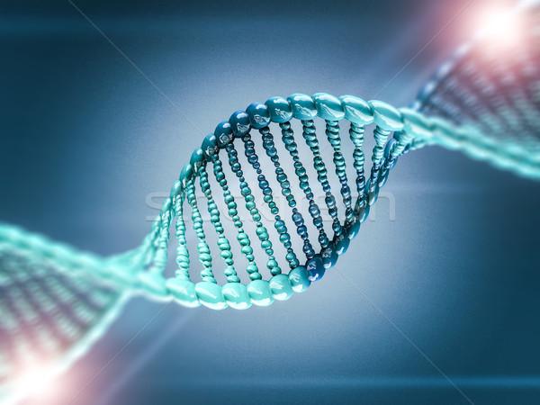 Digitális illusztráció DNS modell 3D tudomány renderelt kép Stock fotó © user_11870380