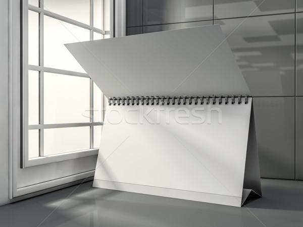 Büro takvim modern iç 3D Stok fotoğraf © user_11870380