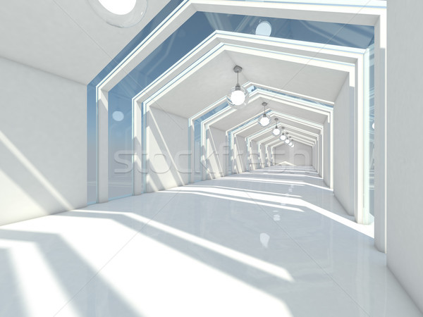Abstract modern architecture background, empty white open space  Stock photo © user_11870380