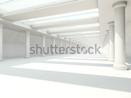 Abstract moderne architectuur 3D lege Open Stockfoto © user_11870380