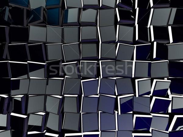 Kubus abstract 3D bouw kruis Stockfoto © user_11870380