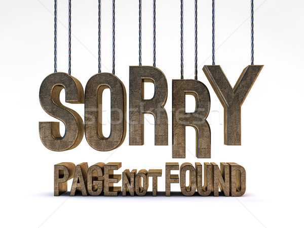 Stock photo: Error 404. Page not found. 3D