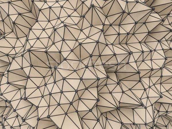 Abstract meetkundig futuristische technologie stijl 3D Stockfoto © user_11870380