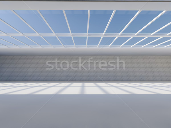Sunny big open area with skylight. 3D. Stock photo © user_11870380