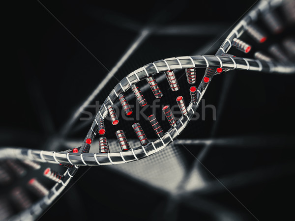 Abstract scienza dna 3D computer Foto d'archivio © user_11870380