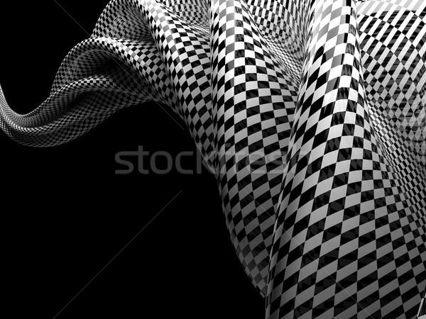 Soyut satranç biçim siyah 3D Stok fotoğraf © user_11870380