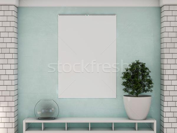 Ontwerp kalender sjabloon muur zachte schaduwen Stockfoto © user_11870380