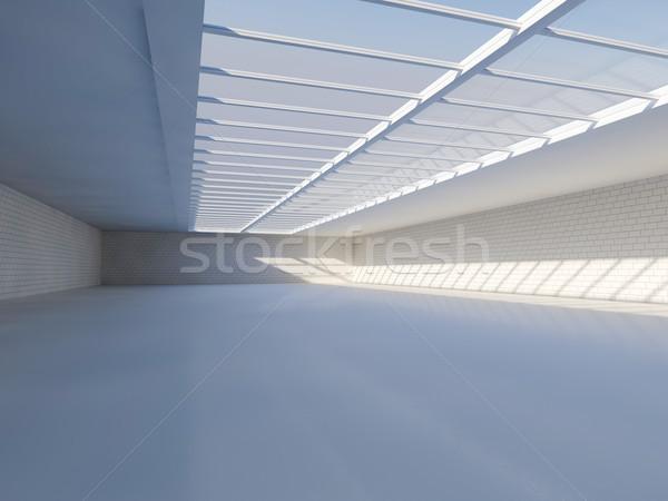 Słoneczny duży otwarte świetlik 3D Zdjęcia stock © user_11870380
