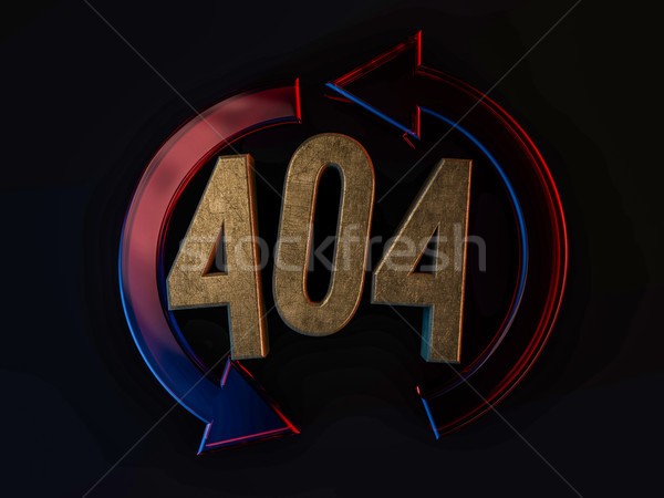 Error 404. Page not found. 3D Stock photo © user_11870380