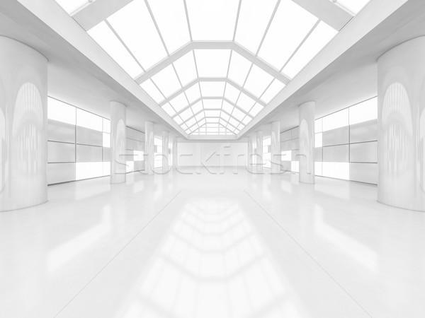 抽象的な 近代建築 空っぽ 白 オープン スペース ストックフォト © user_11870380