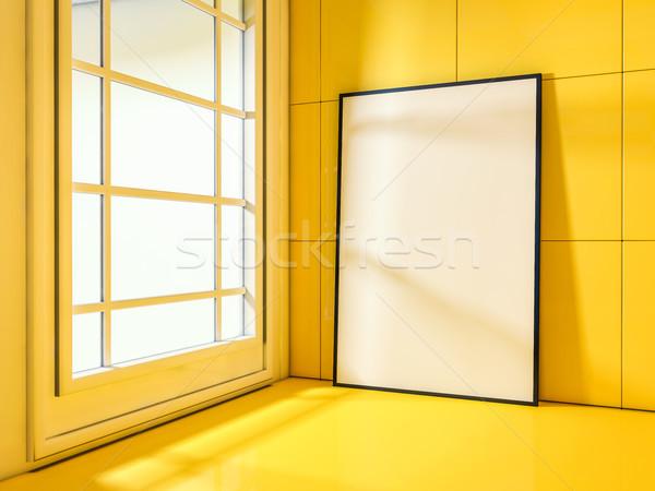 白 アップ フレーム 現代 3D レンダリング ストックフォト © user_11870380