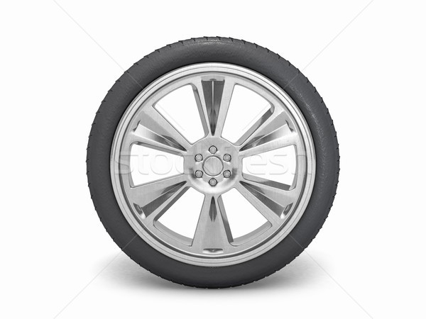 Winter tires with hard protector. 3D Stock photo © user_11870380