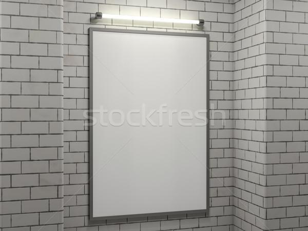 плакат кадр изображение простой сцена Сток-фото © user_11870380