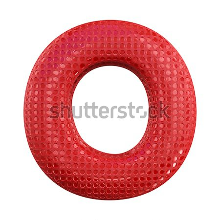 Inflatable letters of the alphabet. 3D Stock photo © user_11870380