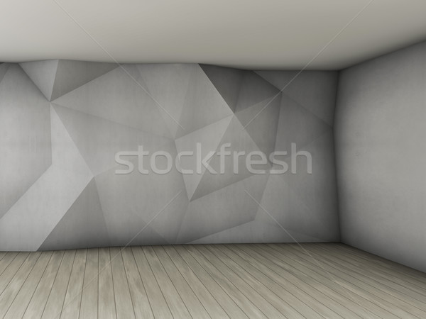 Abstract empty interior with concrete polygonal relief pattern o Stock photo © user_11870380