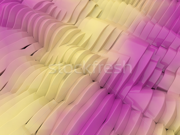 Abstract swirly colorful pink shape background. 3D Stock photo © user_11870380