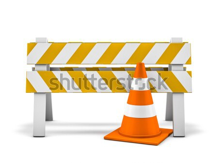 Сток-фото: строительство · иллюстрация · 3D · улице · шоссе