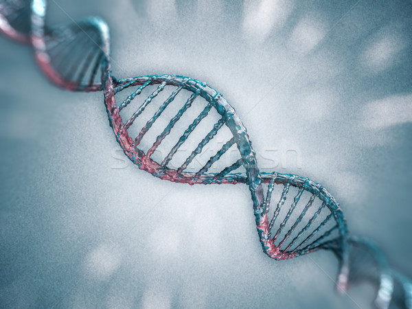 Digital illustration of a DNA model. 3D Stock photo © user_11870380