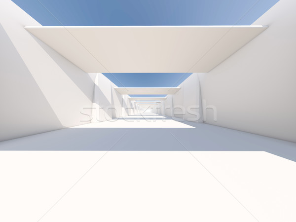 Abstract architettura moderna vuota bianco open spazio Foto d'archivio © user_11870380