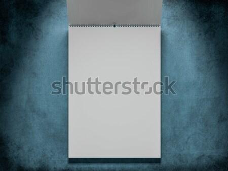 Ontwerp kalender sjabloon dekken zachte schaduwen Stockfoto © user_11870380