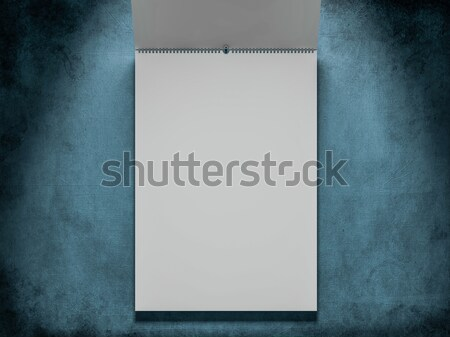 дизайна календаря шаблон охватывать мягкой Тени Сток-фото © user_11870380