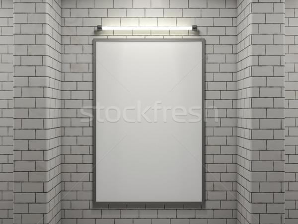 Stockfoto: Poster · frame · afbeelding · eenvoudige · scène