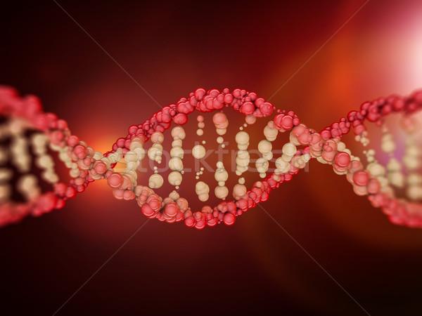 Stockfoto: Digitale · illustratie · dna · model · 3D · wetenschap