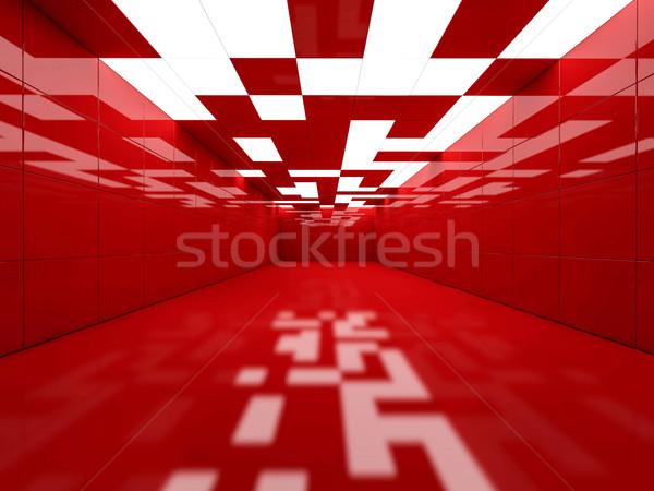 Simple habitación vacía interior lámparas 3D Foto stock © user_11870380